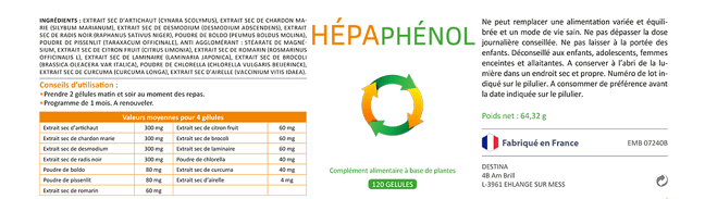 effets de l'hépaphenol